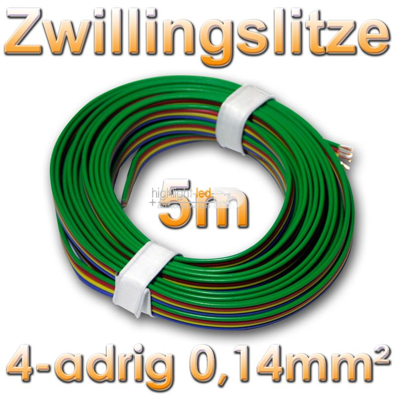 world-trading-net 5m Kupferlitze 4-adrig 0,14mm˛ Kabel ideal RGBA