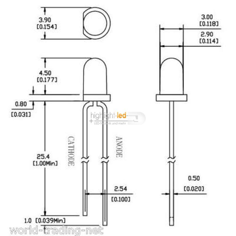 LED-3mm-agua-clara-plateada-colores-amp-brillo-diodos-luminosos-LED-transparente-de-3-mm miniatura 12