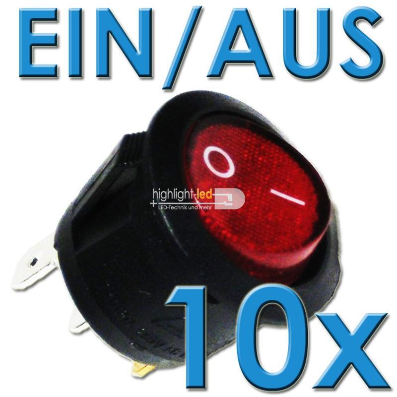 10x-Mini-Wippenschalter-1-polig-EIN-AUS-RUND-250V-6A