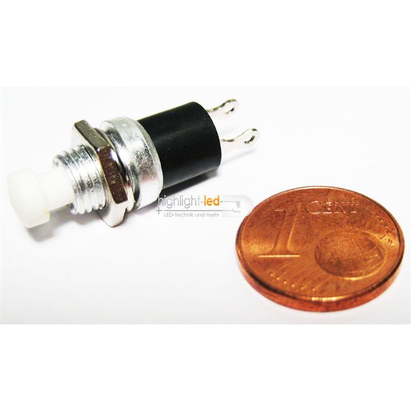 10x-Miniatur-Drucktaster-WEISS-rund-1-polig-3A-125V
