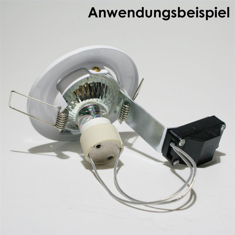 installation luminaires avec version einbauspot gu-10 Deckenstahler gu10 installation cadre
