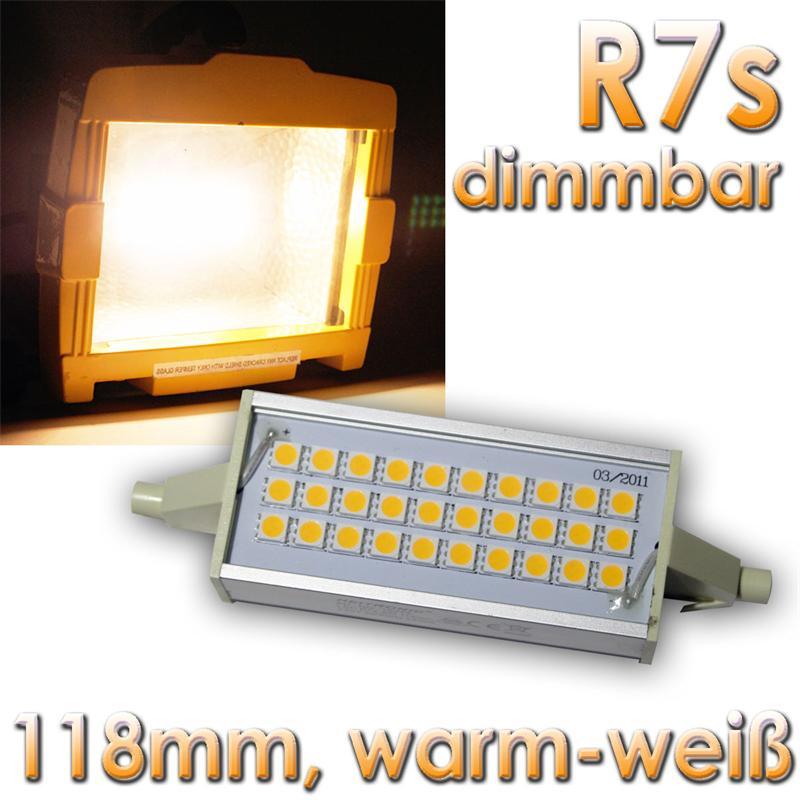 led leuchtmittel r7s dimmbar 30 smds warmwei 118mm 230v 8w fluter ebay. Black Bedroom Furniture Sets. Home Design Ideas
