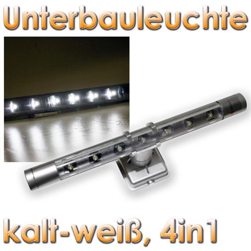 Lunartec LED Unterbauleuchte silber,
