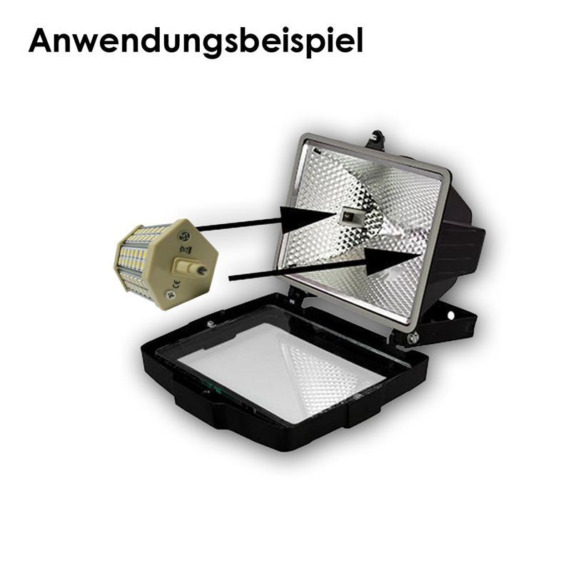 led leuchtmittel r7s f stehlampe deckenfluter baustrahler 230v lampe rohr r hre ebay. Black Bedroom Furniture Sets. Home Design Ideas