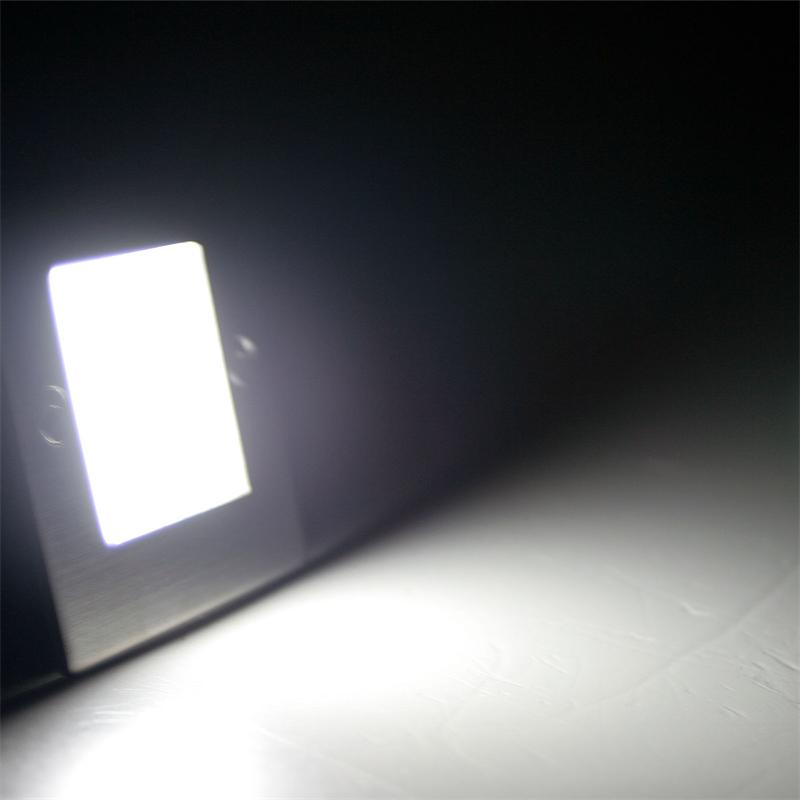 Warehouse Lighting Lux Levels Uk: LED Wall / Floor Recessed Light, Stainless Steel Square