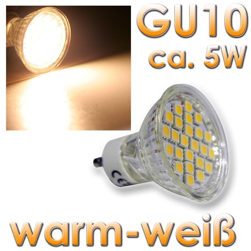 Forever Light GU10 LED Strahler 24x 3-Chip LEDs warmweiß 230V/5W