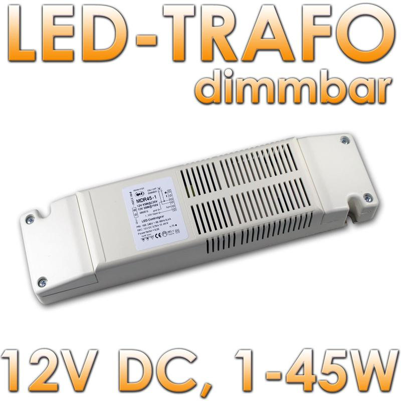 led trafo dimmbar 1 45w 12v dc ip40 vorschaltger t evg netzteil transformator ebay. Black Bedroom Furniture Sets. Home Design Ideas