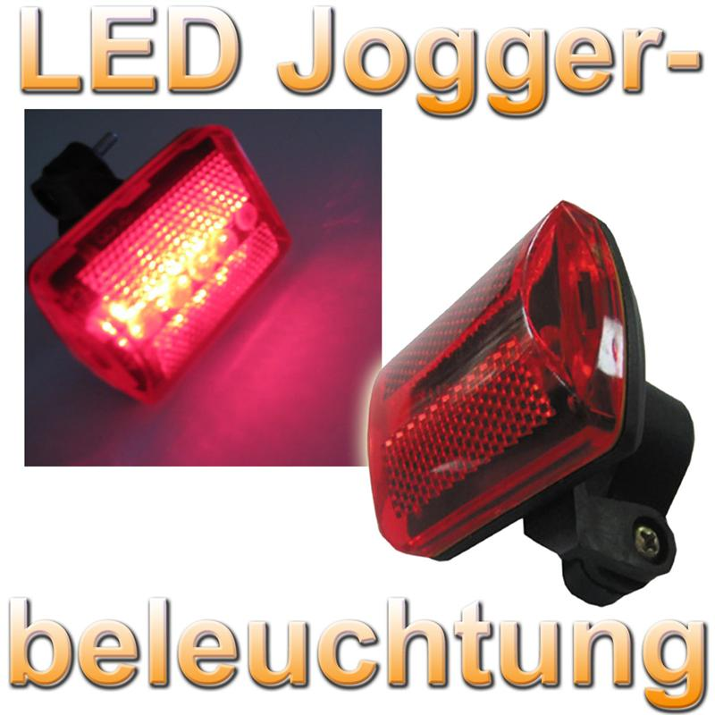 led fahrrad r ckstrahler joggerlicht r cklicht leds rot ebay. Black Bedroom Furniture Sets. Home Design Ideas