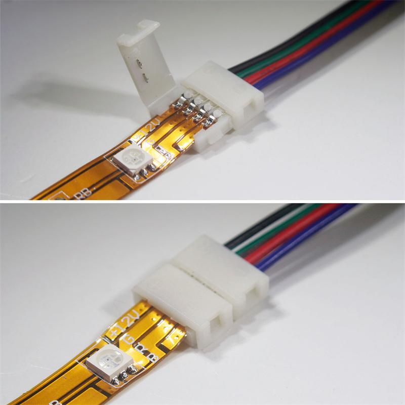 rgb led strip 10mm corner junction clip connector. Black Bedroom Furniture Sets. Home Design Ideas