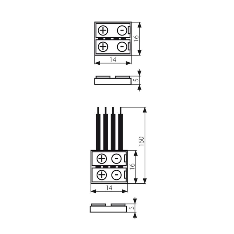 rgb led strip 10mm corner junction clip connector
