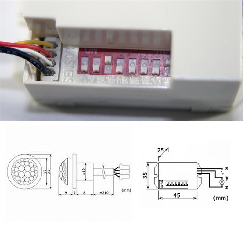 Bewegungsmelder-versch-Typen-Bewegungmelder-Bewegungssensor-Schalter-PIR Indexbild 73
