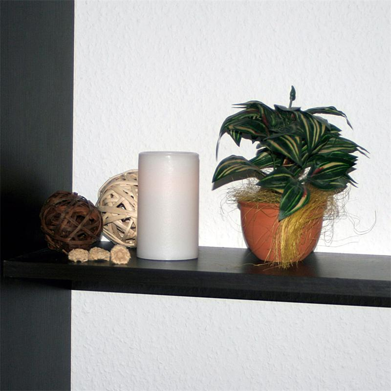 led kerze echtwachs mantel flackernd flammenlose wachs. Black Bedroom Furniture Sets. Home Design Ideas