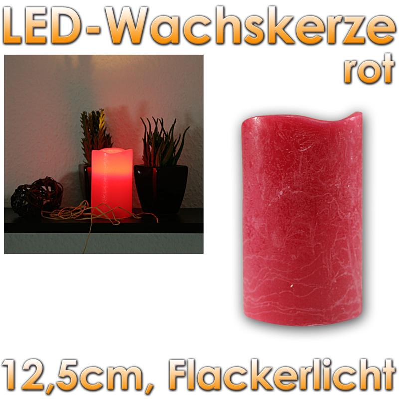led echtwachs kerze mit timer flackernd 12 5x7 5cm flackernde flammenlose kerzen ebay. Black Bedroom Furniture Sets. Home Design Ideas