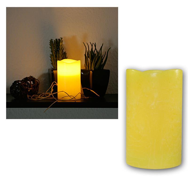 led echtwachs kerze 12 5x7 5cm flackernde flammenlose kerzen mit timer flackernd ebay. Black Bedroom Furniture Sets. Home Design Ideas
