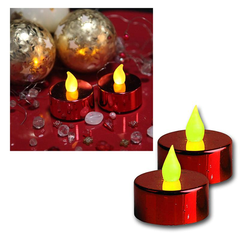 Set-of-2-LED-Tea-Lights-Flickering-Tea-Candle-Tealight-Candles-LED-Flameless