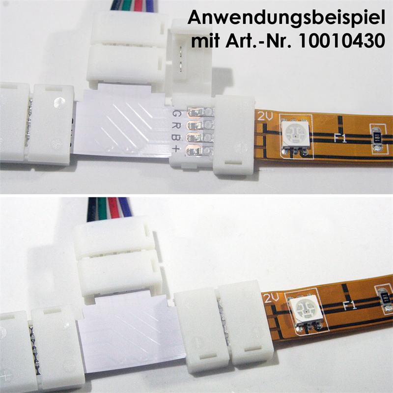 led rgb verl ngerung verbinder anschluss kabel led rgb leiste strip e streifen ebay. Black Bedroom Furniture Sets. Home Design Ideas