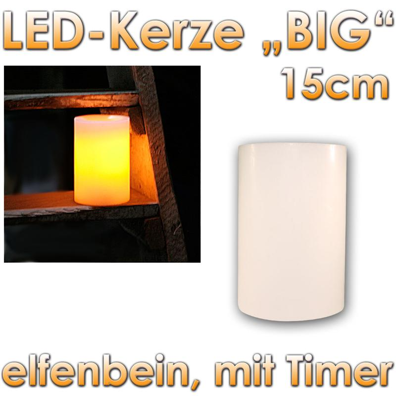 led wachs kerze big timer flackernde flammenlose kerzen wax candle elektrische ebay. Black Bedroom Furniture Sets. Home Design Ideas