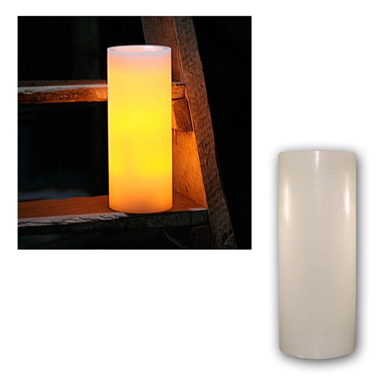 led echt wachs kerze big mit timer flackernde flammenlose kerzen wax candle xl ebay. Black Bedroom Furniture Sets. Home Design Ideas