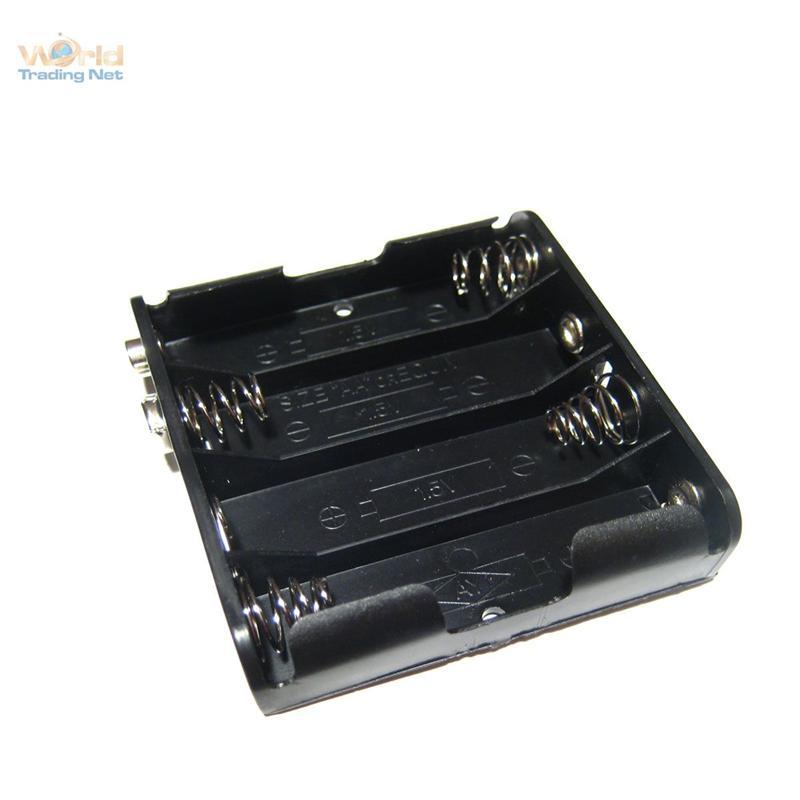 Batteriehalter-fuer-4x-Mignon-AA-Batterie-Batteriefach