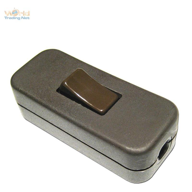 Schnurzwischenschalter-Schnurschalter-Zwischenschalter-Kabel-Wipp-Schalter-NEU