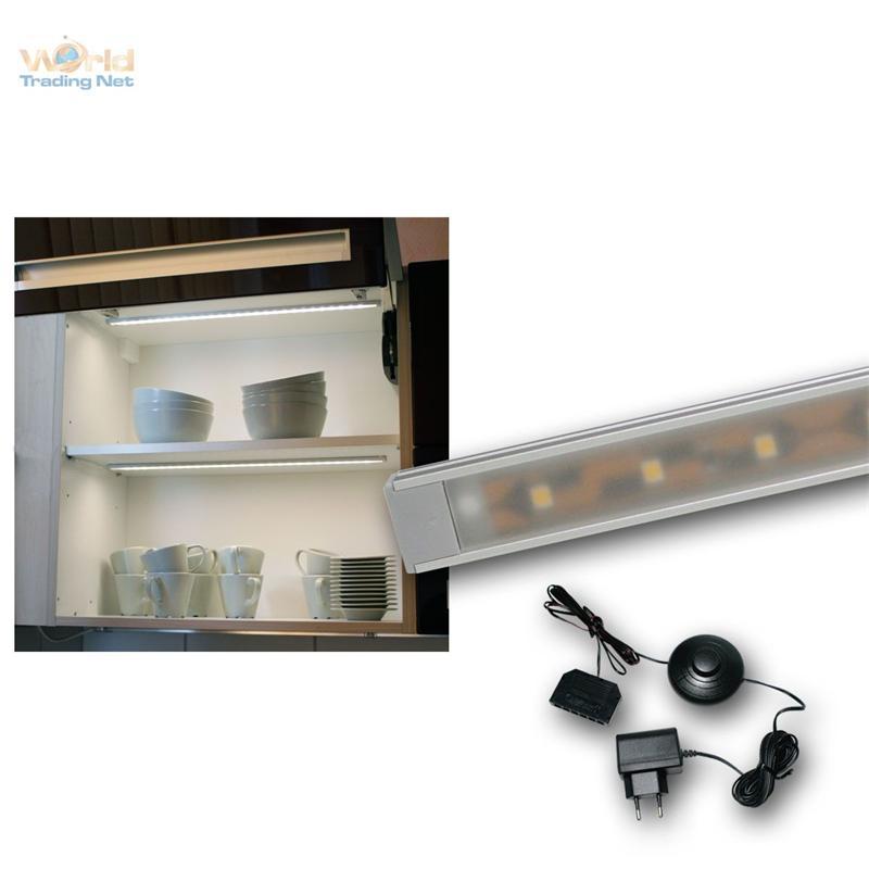 sets led lichtleisten wtn flat warmwei kaltwei unterbauleuchte alu leiste ebay. Black Bedroom Furniture Sets. Home Design Ideas