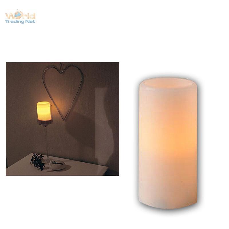 led kerze flackernd echtwachs mantel flammenlose wachs. Black Bedroom Furniture Sets. Home Design Ideas