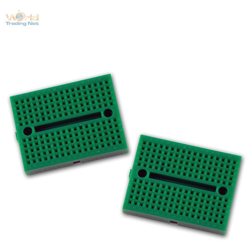 Laborsteckboard-GRUN-2x170-Kontakte-Experimentier-Platine-Labor-Steckboard