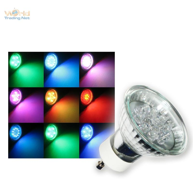 gu10 led strahler rgb farbwechsel bunt spot lampe 230v ebay. Black Bedroom Furniture Sets. Home Design Ideas