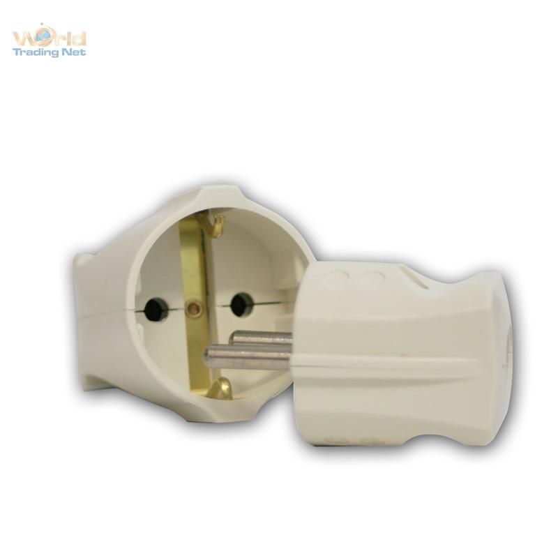 230v steckverbinder versch typen schuko europa stecker kupplung buchse euro ebay. Black Bedroom Furniture Sets. Home Design Ideas