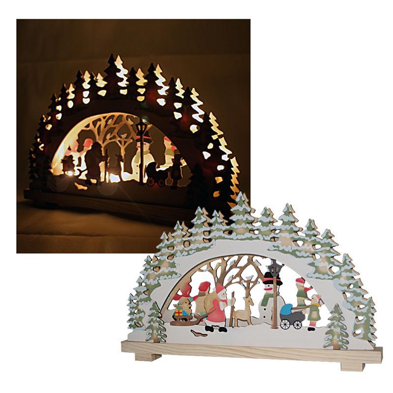Christmas festive scene wooden window candle arch bridge for Christmas arch diy