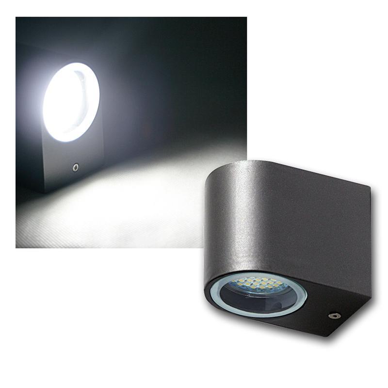 led outdoor wall light anthracite black lantern with smd leds 240v ip44 3w ebay