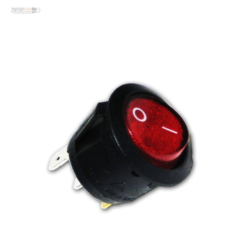 Wippschalter-1-polig-EIN-AUS-RUND-250V-6A-ROT-Schalter