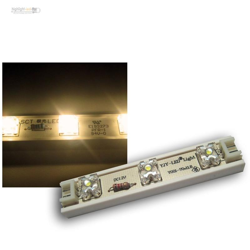 1m-LED-Strip-7-SuperFlux-Module-12V-DC-WARM-WEISS-LEDs