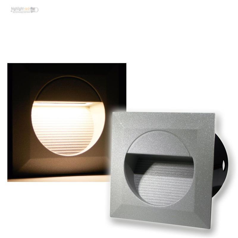 led wandeinbauleuchte wandeinbaustrahler treppenstrahler stufenlicht ip65 230v ebay. Black Bedroom Furniture Sets. Home Design Ideas