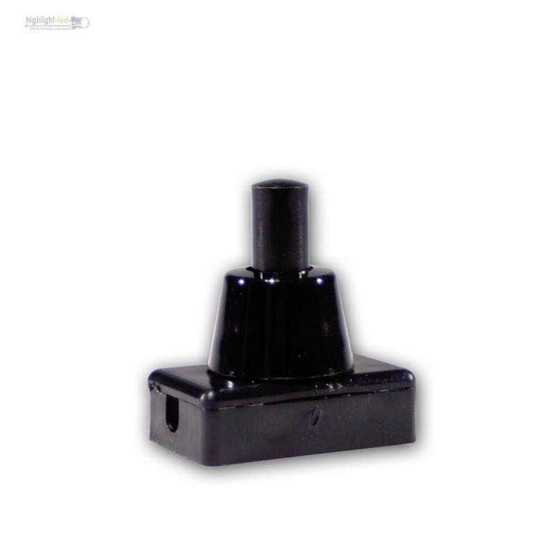 lampen schalter druckschalter schwarz 1 polig ein aus schaltend max 250v 2a ebay. Black Bedroom Furniture Sets. Home Design Ideas