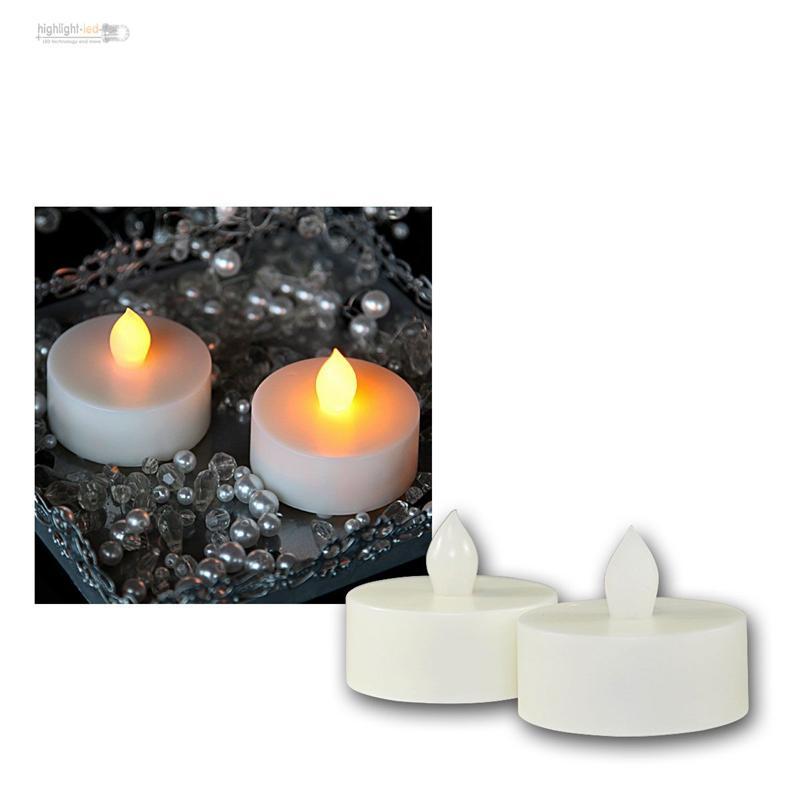 2er set led teelicht extra gross flackernd teelichter. Black Bedroom Furniture Sets. Home Design Ideas