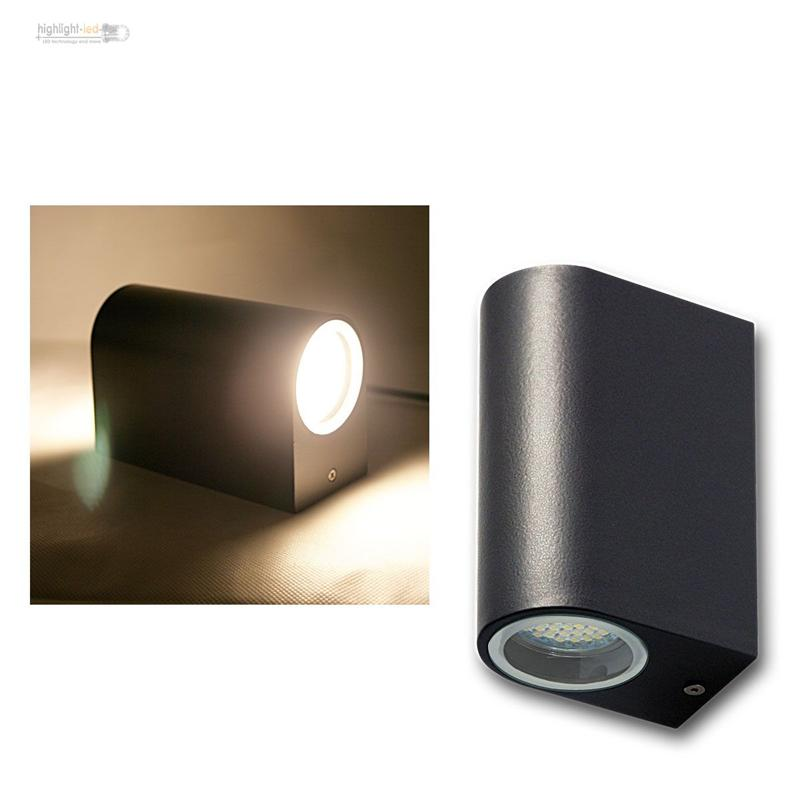 led wandleuchte anthrazit au enleuchte au enwandleuchte. Black Bedroom Furniture Sets. Home Design Ideas