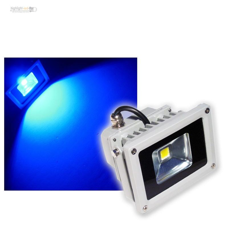 10w led flutlicht strahler blau ip65 scheinwerfer spot ebay. Black Bedroom Furniture Sets. Home Design Ideas