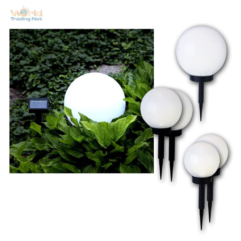 led kugelleuchte solarlampe kugellampe garten leuchte lampe gartenlampe ebay. Black Bedroom Furniture Sets. Home Design Ideas