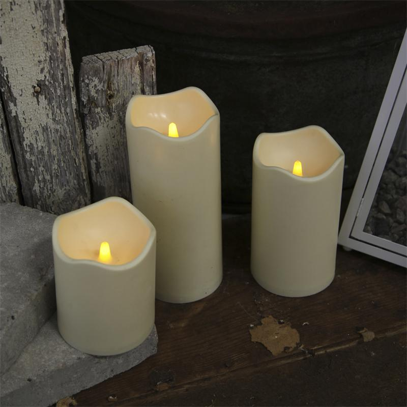 Led Candle For Outdoors With Timer Flickering Leds