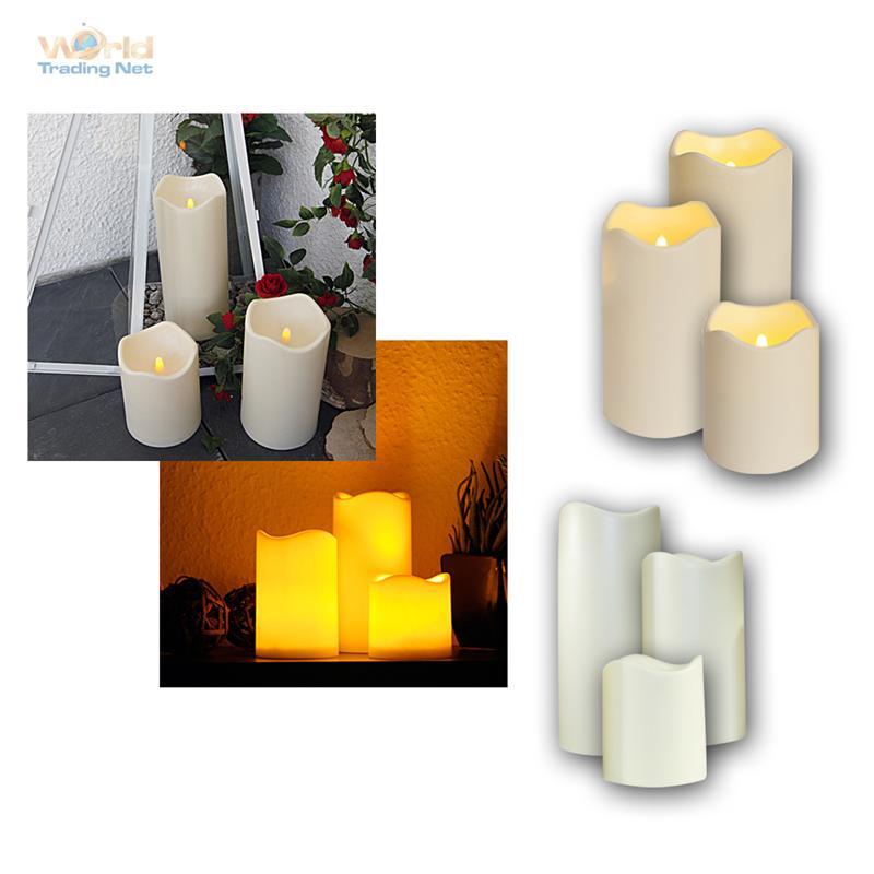 led kerze f r au en mit timer flackernde flammenlose kerzen flackernd outdoor. Black Bedroom Furniture Sets. Home Design Ideas