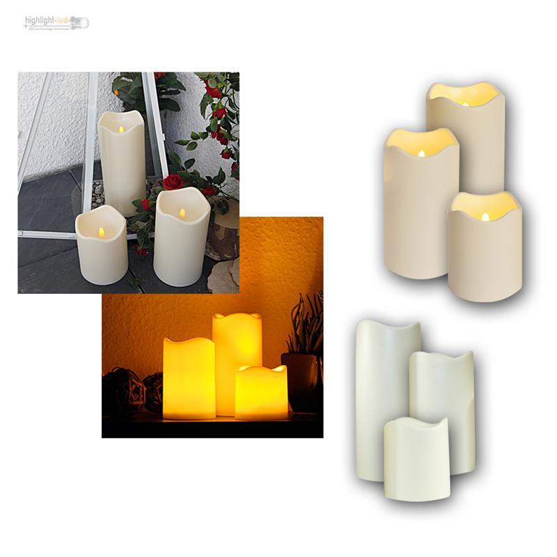 led kerze f r au en mit timer flackernde elektrische kerzen flackernd candle ebay. Black Bedroom Furniture Sets. Home Design Ideas