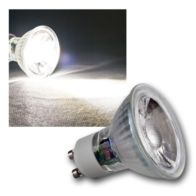 led glas leuchtmittel mr16 gu10 3w 5w cob highpower leds birne strahler ebay. Black Bedroom Furniture Sets. Home Design Ideas