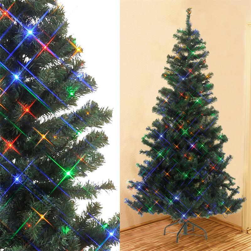 k nstlicher weihnachtsbaum christbaum mit led beleuchtung f r innen au en ebay. Black Bedroom Furniture Sets. Home Design Ideas