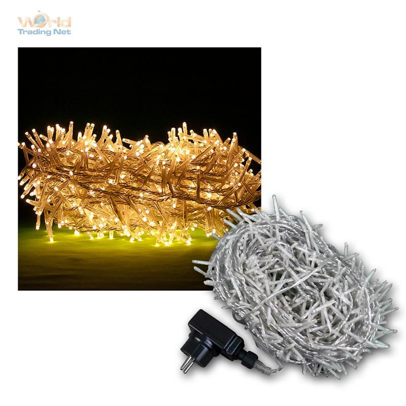 led lichterkette f r au en und innen micro leds warmwei weihnachtsbeleuchtung ebay. Black Bedroom Furniture Sets. Home Design Ideas