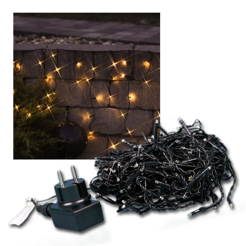 led eisregen lichterkette leds warmwei ip 44 au en lichtervorhang ip44 230v ebay. Black Bedroom Furniture Sets. Home Design Ideas