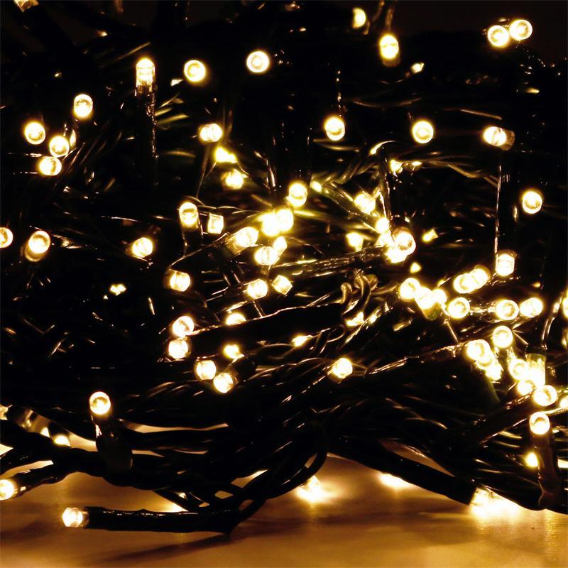 led lichterkette f r au en und innen warmwei lichtkette warm wei 230 volt ebay. Black Bedroom Furniture Sets. Home Design Ideas