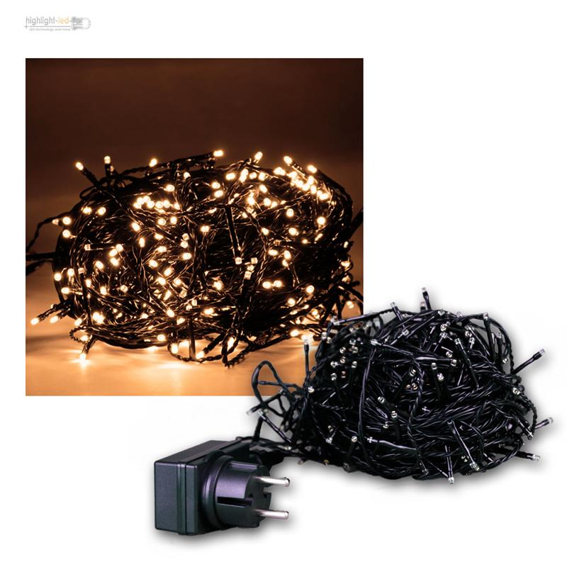 micro led lichterkette leds warmwei weihnachtsbeleuchtung innen au en 230v ebay. Black Bedroom Furniture Sets. Home Design Ideas