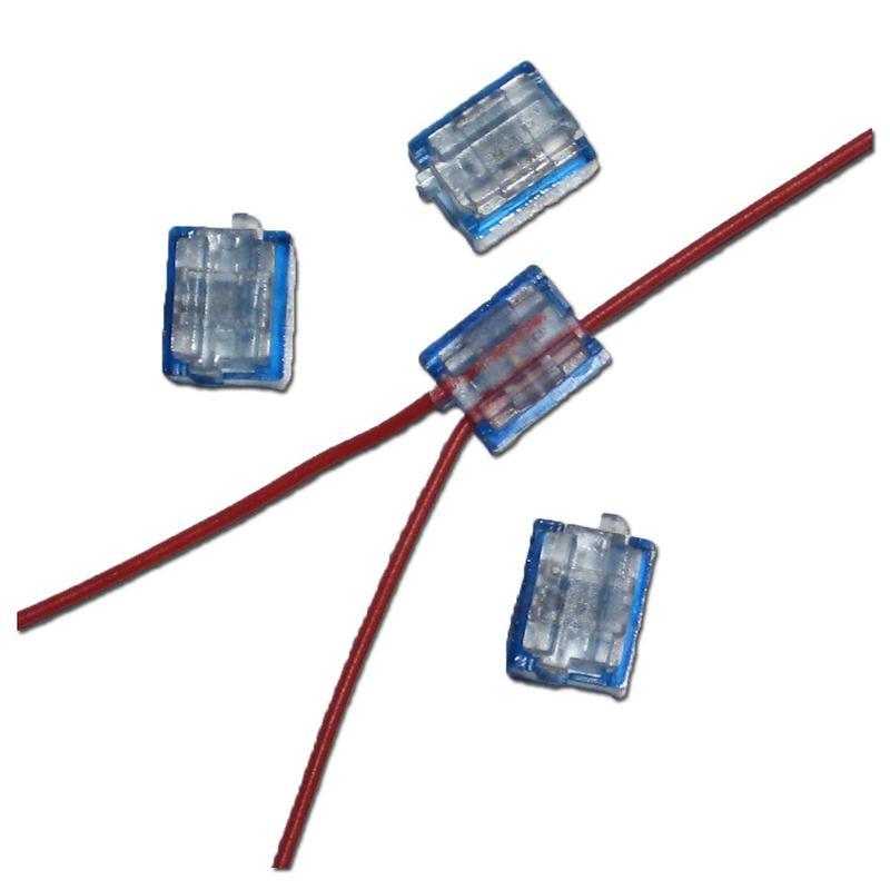 12x mini klemmverbinder blau 0 1 0 9 mm japaner top ebay. Black Bedroom Furniture Sets. Home Design Ideas
