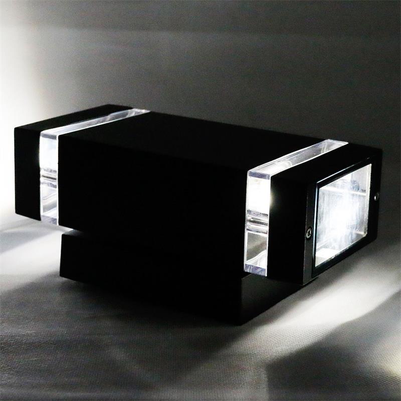 led au enwandleuchte wandlampen mit cob leds au en wandleuchten eingangsleuchte. Black Bedroom Furniture Sets. Home Design Ideas